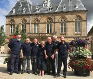 Group of Town Team Volunteers outside of Bishop Auckland Town Hall